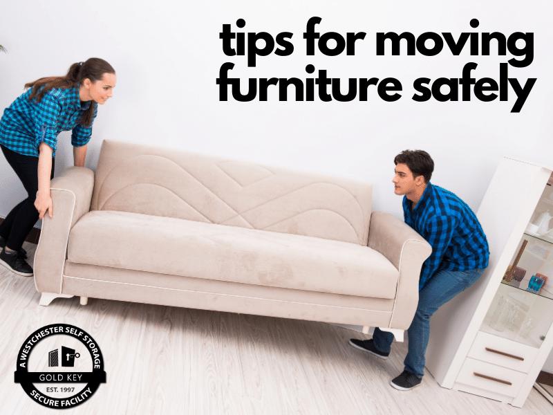 tips for moving furniture Mohegan Lake Self Storage