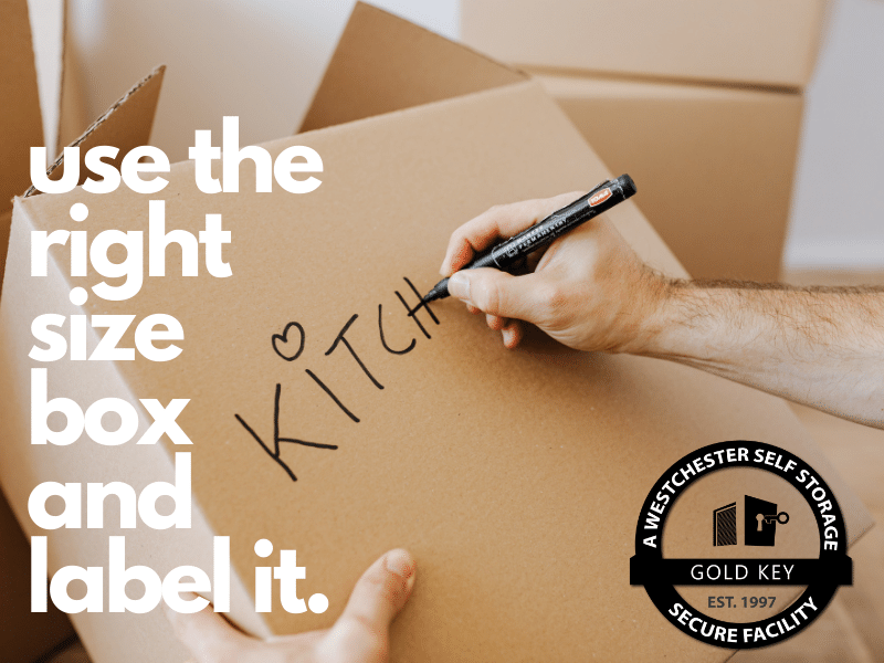 Storage Tips Mohegan Lake Use The Right Sized Box